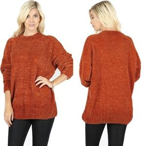RYLEE Softest Chenille Sweater - RUST